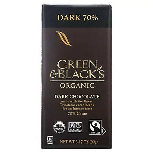 Picture of Green & Blacks Dark Chocolate Organic 70% Cacao - 3.17 Oz