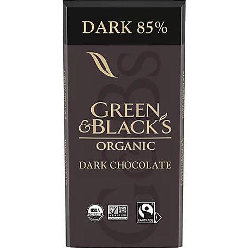 Picture of Green & Blacks Dark Chocolate Organic 85% Cacao - 3.17 Oz