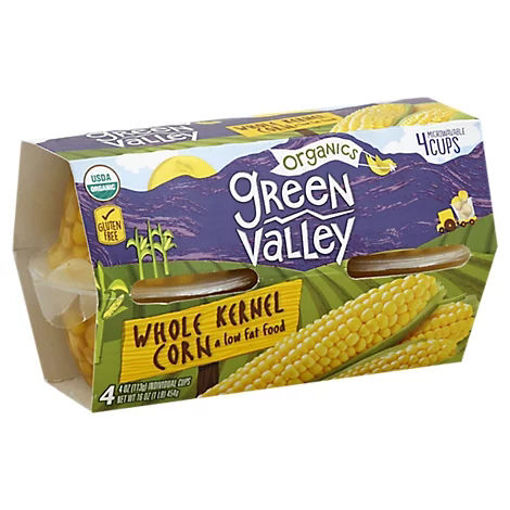 Picture of Green Valley Organic Corn Whole Kernel Low Fat - 4-4 Oz