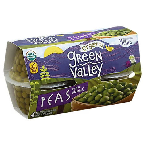 Picture of Green Valley Organic Peas - 4-4 Oz