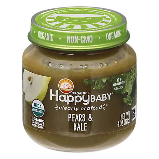 Picture of Happy Baby Organic Stage 2 Cc Pear & Kale Jar - 4 OZ