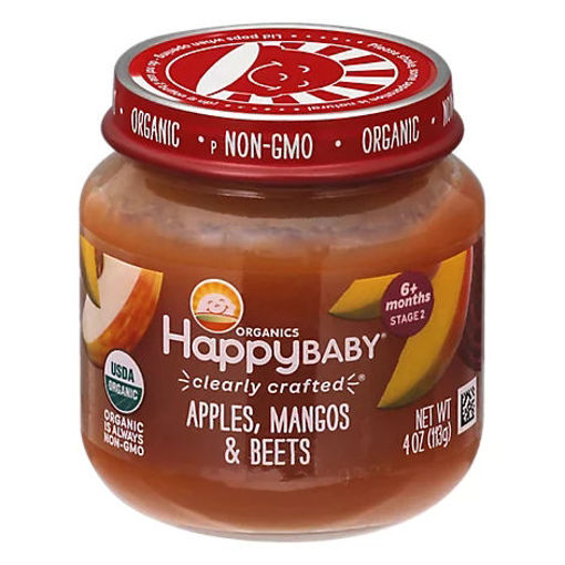 Picture of Happy Baby Organic Stage 2 Cc Apples Mangos & Beets Jar - 4 OZ