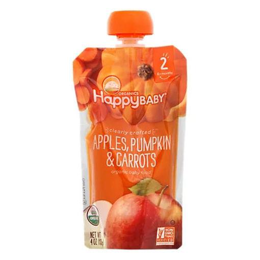 Picture of Happy Baby Organics Apples Pumpkin & Carrots - 4 Oz