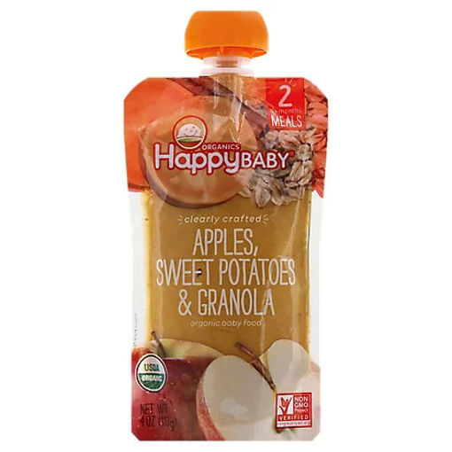Picture of Happy Baby Organics Apples Sweet Potatoes & Granola - 4 Oz