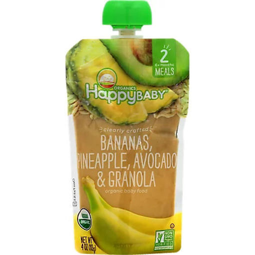 Picture of Happy Baby Organics Bananas Pineapples Avocado & Granola - 4 Oz