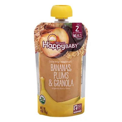 Picture of Happy Baby Organics Bananas Plums & Granola - 4 Oz