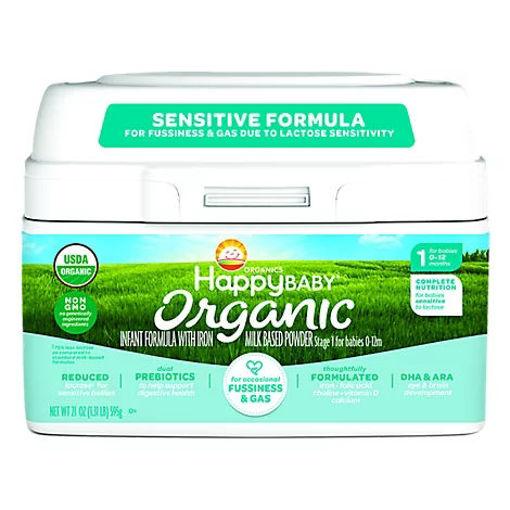 Picture of Happy Baby Organics Infant Sensitive Formula Powder - 21 Oz