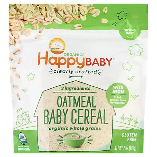 Picture of Happy Baby Organics Oatmeal Cereal - 7 Oz