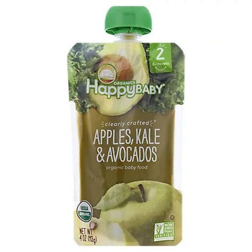 Picture of Happy Baby Organics Organic Baby Food Apple Kale & Avocados - 4 Oz