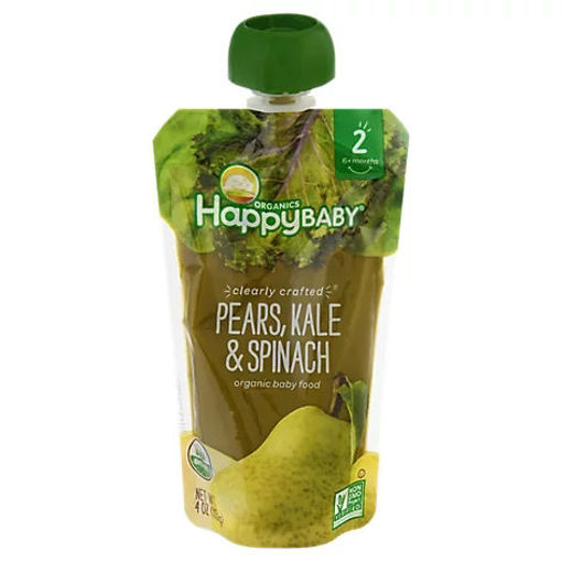Picture of Happy Baby Organics Pears Kale & Spinach - 4 Oz