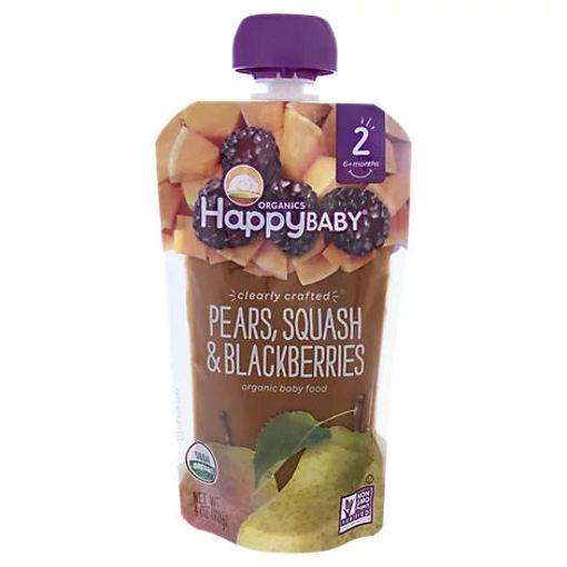 Picture of Happy Baby Organics Pears Squash & Blackberries - 4 Oz