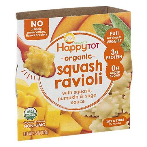 Picture of Happy Tot Organics Love My Veggies Bowl Squash Ravioli - 4.5 Oz