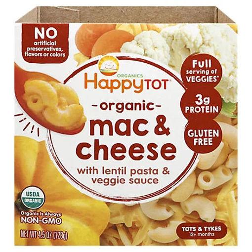 Picture of Happy Tot Organics Love My Veggies Mac & Cheese Lentil Veggie Bowl - 4.5 Oz