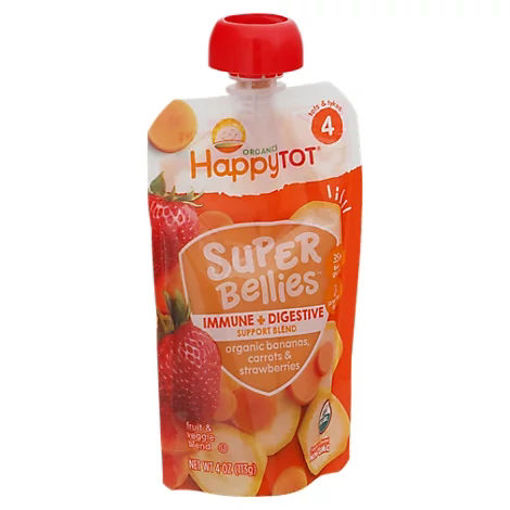 Picture of Happy Tot Organics Super Bellies Immune Digestive Support Blend Bananas - 4 OZ