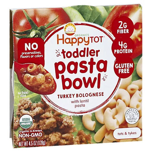 Picture of Happy Tot Organics Turkey Bolognese Lentil Pasta Bowl Organic - 4.5 Oz