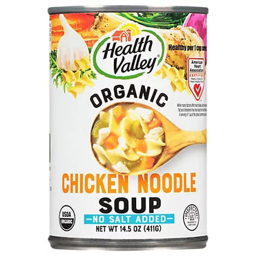 Picture of Health Valley Organic Soup No Salt Added Chicken Noodle - 14.5 Oz