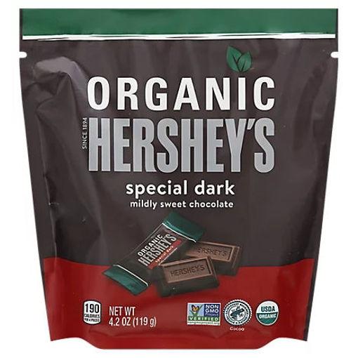 Picture of Hersheys Organic Dark Chocolate Miniature - 4.2 OZ