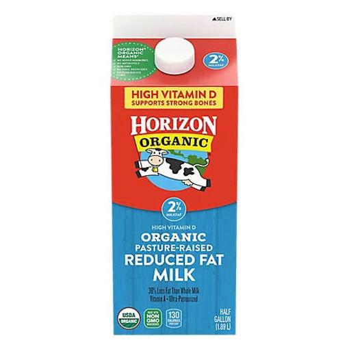 Picture of Horizon Organic 2% Reduced Fat Milk Half Gallon - 64 Fl. Oz.