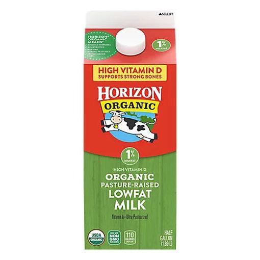 Picture of Horizon Organic Milk 1% Lowfat Half Gallon - 64 Fl. Oz.