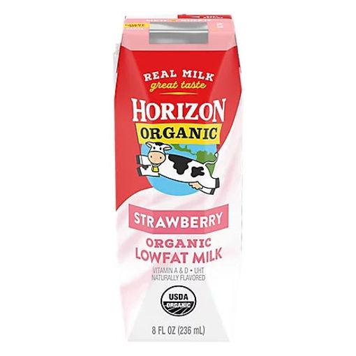 Picture of Horizon Organic Milk 1% Lowfat Strawberry - 8 Fl. Oz.