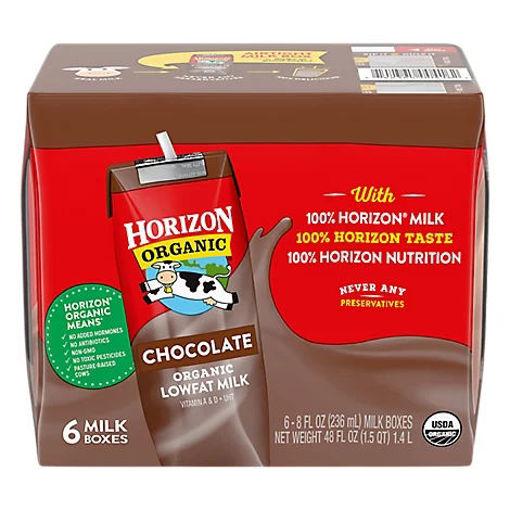Picture of Horizon Organic Milk Chocolate 1% Lowfat - 6-8 Fl. Oz.