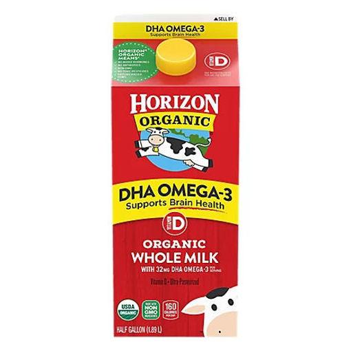 Picture of Horizon Organic Milk DHA Omega 3 Vitamin D Half Gallon - 64 Fl. Oz.