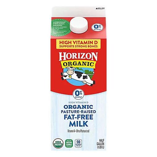 Picture of Horizon Organic Milk Fat Free Half Gallon - 64 Fl. Oz.