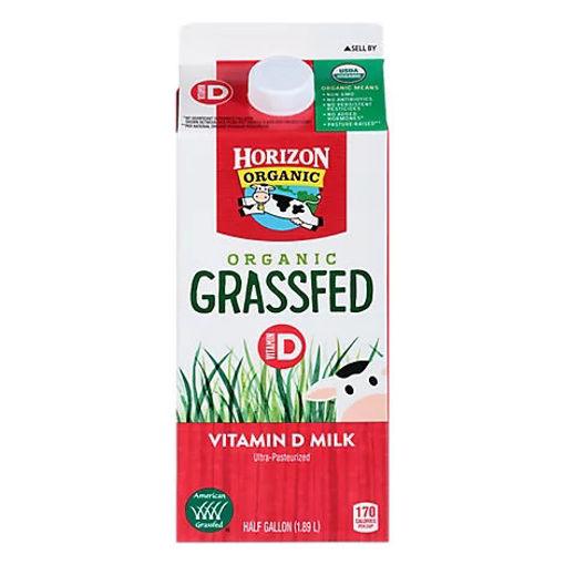 Picture of Horizon Organic Milk Grassfed Vitamin D Half Gallon - 64 Fl. Oz.