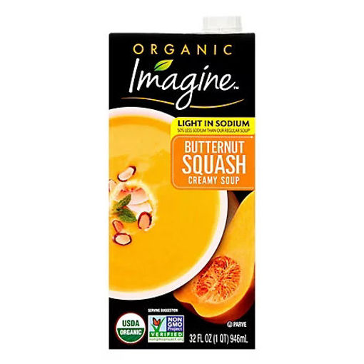 Picture of Imagine Organic Soup Creamy Butternut Squash Light In Sodium - 32 Fl. Oz.