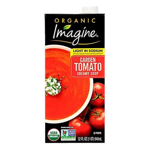 Picture of Imagine Organic Soup Creamy Garden Tomato Light In Sodium - 32 Fl. Oz.