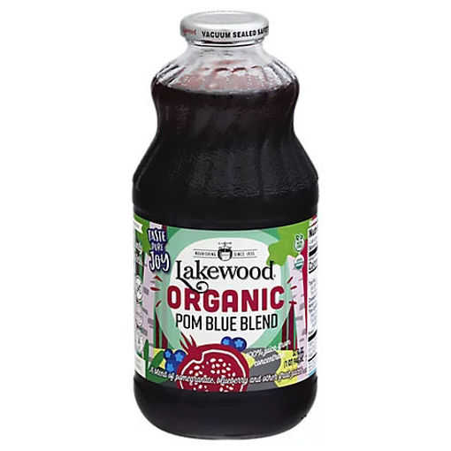 Picture of Lakewood Organic 100% Juice Blend Pomegranate With Blueberry - 32 Fl. Oz.