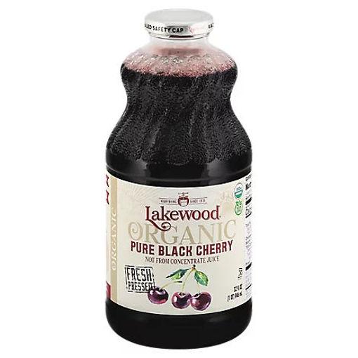 Picture of Lakewood Organic Juice Fresh Pressed Pure Black Cherry - 32 Fl. Oz.