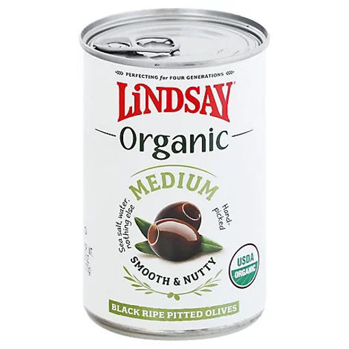 Picture of Lindsay Organic Medium Black Ripe Olives - 6 Oz