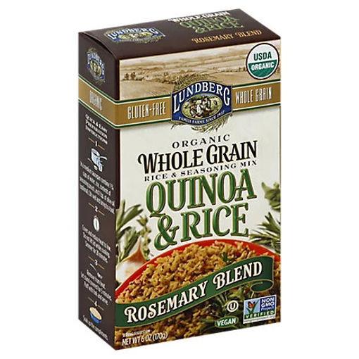 Picture of Lundberg Organic Rice & Seasoning Mix Whole Grain Quinoa & Rice Rosemary Blend Box - 6 Oz