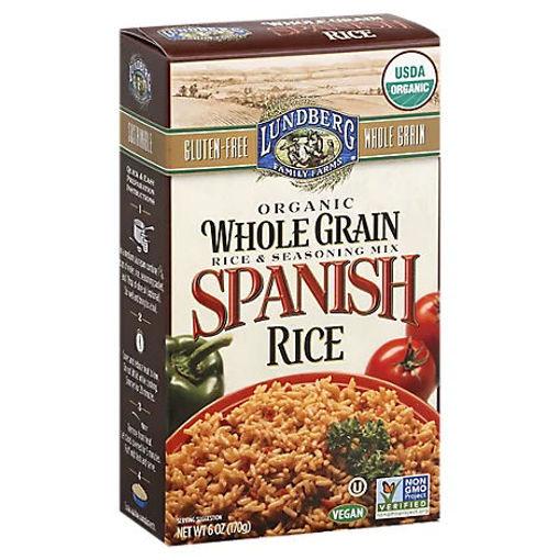 Picture of Lundberg Organic Rice & Seasoning Mix Spanish Rice Box - 6 Oz