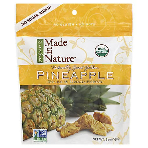 Picture of Made In Nature Pineapple Pieces Organic - 3 Oz