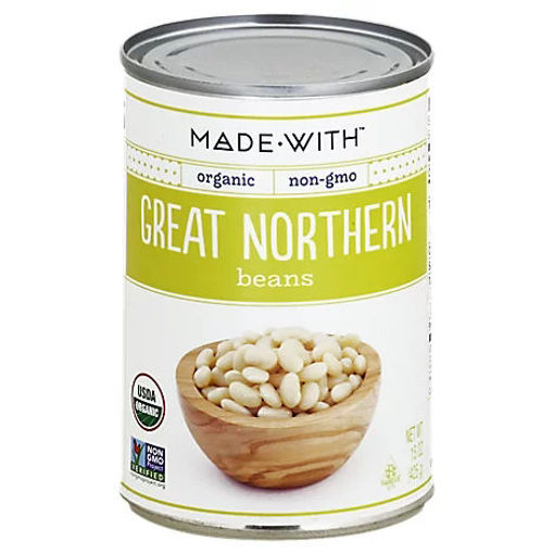 Picture of Made With Organic Great Northern Beans - 15 Oz