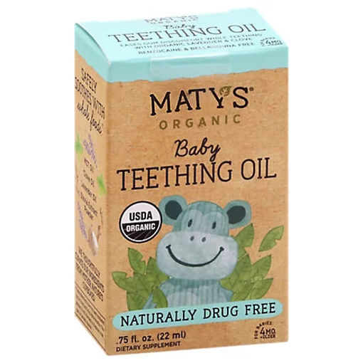 Picture of Maty's Organic Baby Teething Oil - .75 OZ