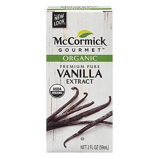 Picture of McCormick Gourmet Organic Pure Vanilla Extract - 2 Fl. Oz.