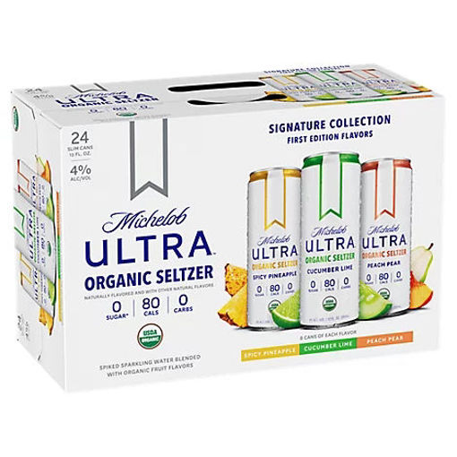 Picture of Michelob Ultra Pure Organic Seltzer Var Pk In Cans - 24-12 FZ