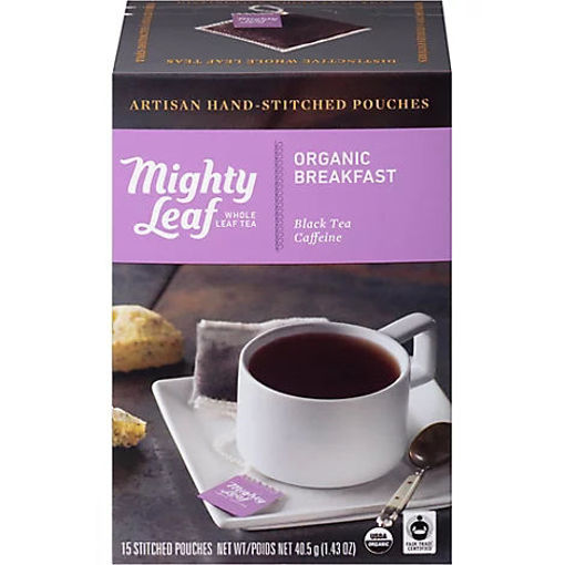 Picture of Mighty Leaf Tea Organic Breakfast Stitched - 15 Count