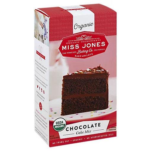 Picture of Miss Jones Baking Co Organic Cake Mix Chocolate - 15.87 Oz