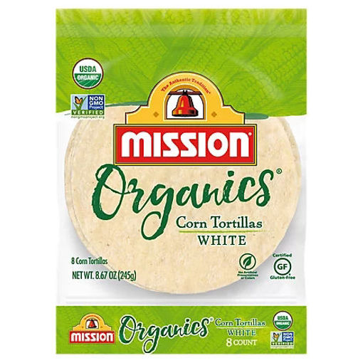 Picture of Mission Organic Tortillas Corn White Bag 8 Count - 8.67 Oz