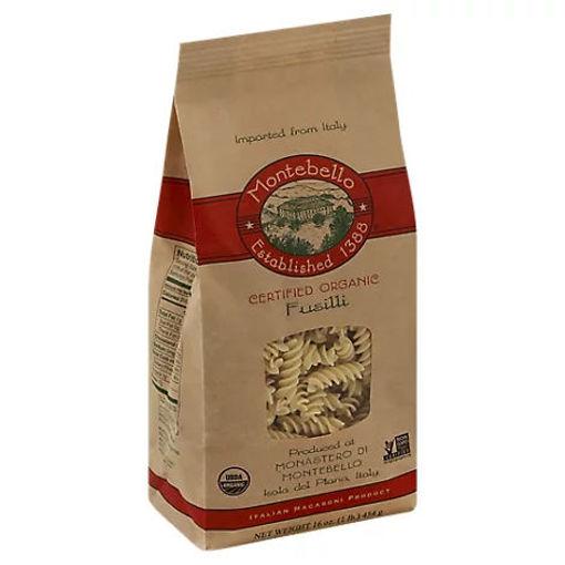 Picture of Montabello Pasta Organic Fusilli Bag - 16 Oz
