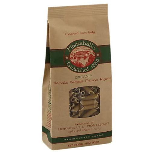 Picture of Montabello Pasta Organic Linguine Whole Wheat Bag - 16 Oz