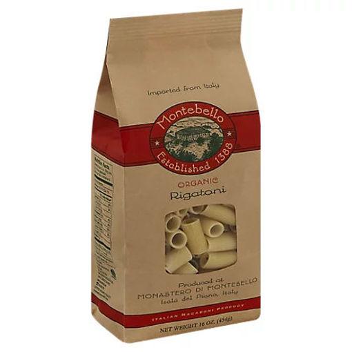 Picture of Montabello Pasta Organic Rigatoni Bag - 16 Oz