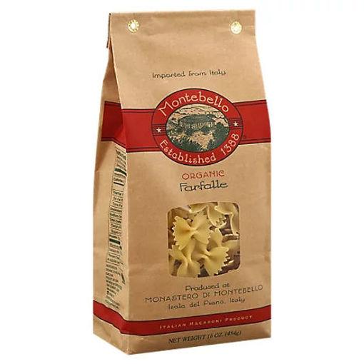 Picture of Montebello Organic Farfalle Pasta - 16 OZ