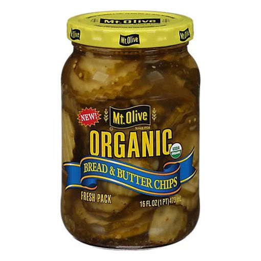 Picture of Mt. Olive Organic Pickles Bread & Butter Chips Fresh Pack - 16 Fl. Oz.