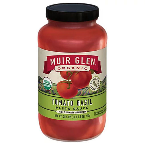 Picture of Muir Glen Organic Pasta Sauce Tomato Basil - 25.5 Oz