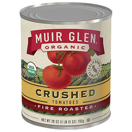 Picture of Muir Glen Tomatoes Organic Crushed Fire Rosted - 28 Oz